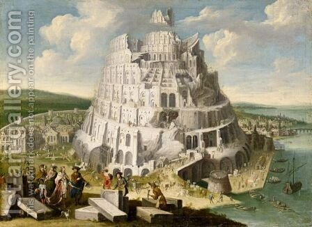 The Tower Of Babel by James Stephanoff - Reproduction Oil Painting