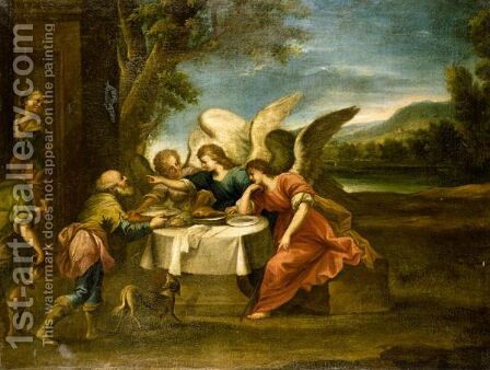 Abraham And The Three Angels by (after) Jose Antolinez - Reproduction Oil Painting