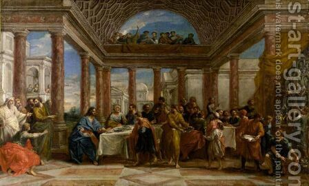 The Feast In The House Of Levi by (after) Benedetto Luti - Reproduction Oil Painting
