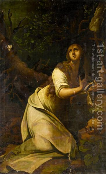 The Penitent Mary Magdalene by Italian School - Reproduction Oil Painting
