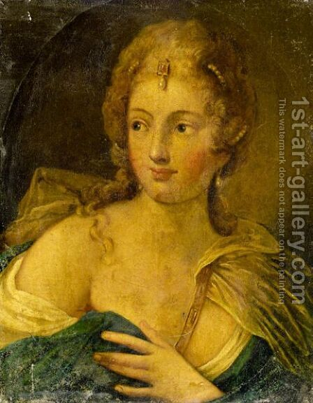 Portrait Of A Lady by (after) Pietro Liberi - Reproduction Oil Painting