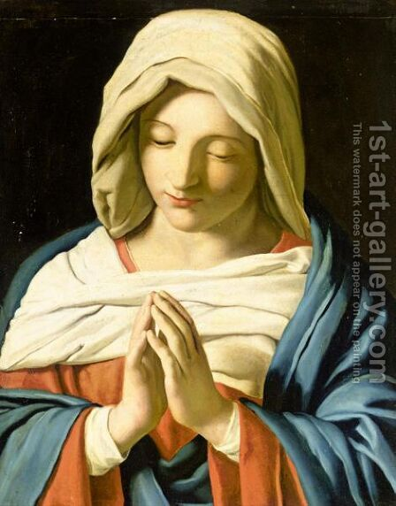 The Virgin At Prayer 2 by (after) Giovanni Battista Salvi, Il Sassoferato - Reproduction Oil Painting
