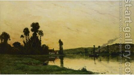 Washerwoman At Dusk by Hippolyte Camille Delpy - Reproduction Oil Painting