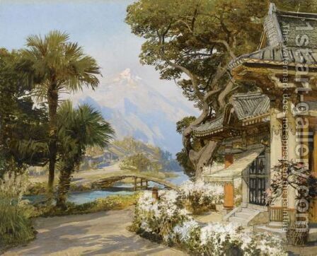 Vue D'Orient by Ecole Francaise, Xixeme Siecle - Reproduction Oil Painting