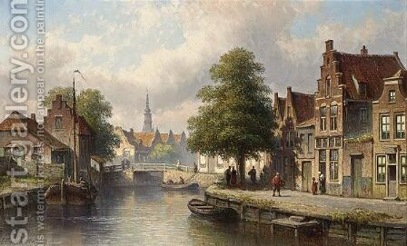 A View Of Edam by Eduard Alexander Hilverdink - Reproduction Oil Painting