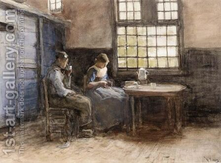 The Afternoon Break, Laren by Anton Mauve - Reproduction Oil Painting