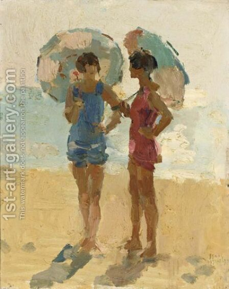 Ladies On The Beach by Isaac Israels - Reproduction Oil Painting