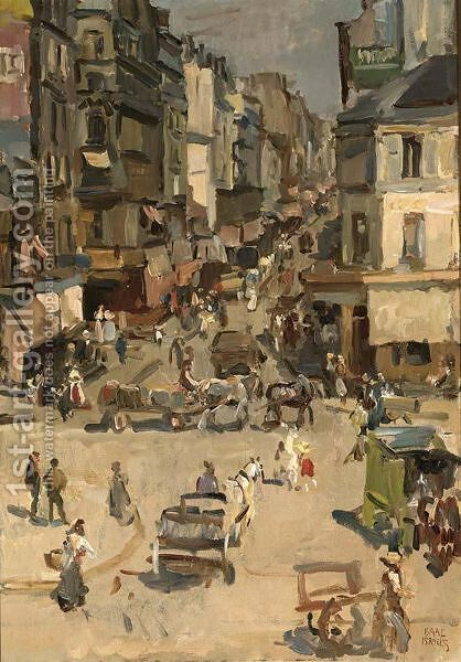 Rue Clignancourt, Paris by Isaac Israels - Reproduction Oil Painting