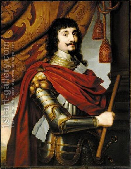 Portrait Von Friedrich V., Konig Von Bohmen, Dem Sog. Winterkonig (1596-1632) by (after) Honthorst, Gerrit van - Reproduction Oil Painting