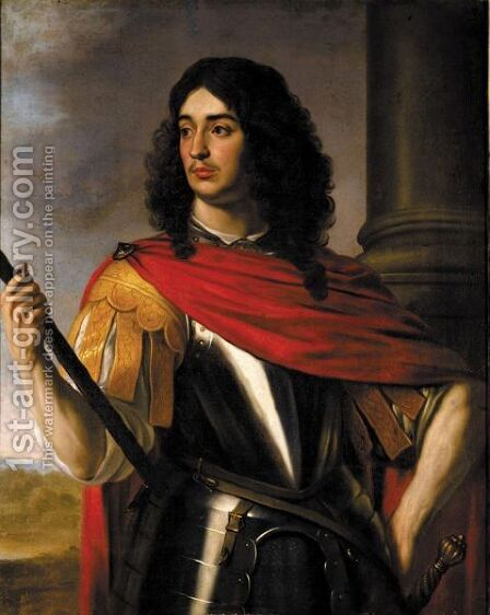 Portrait Von Prinz Eduard Von Der Pfalz by (after) Honthorst, Gerrit van - Reproduction Oil Painting
