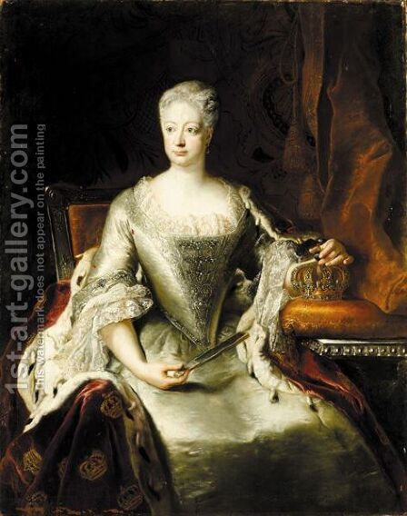 Portrait Von Konigin Sophie Dorothea by Antoine Pesne - Reproduction Oil Painting