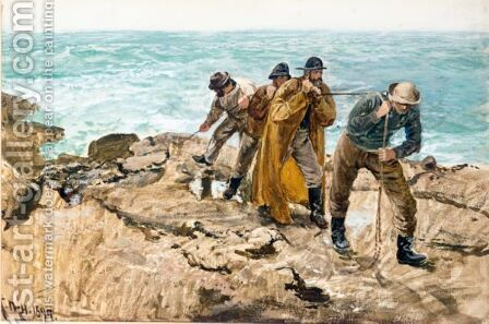 Wreckage by Charles Napier Hemy - Reproduction Oil Painting