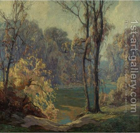 Autumn Glories by Carl Rudolph Krafft - Reproduction Oil Painting