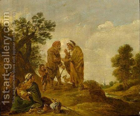 A Gipsy Family by (after) David The Younger Teniers - Reproduction Oil Painting