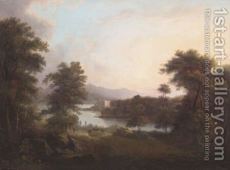 View Of A Lochside Castle by Alexander Nasmyth - Reproduction Oil Painting