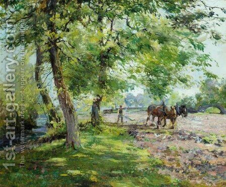 Ploughing by Archibald Kay - Reproduction Oil Painting