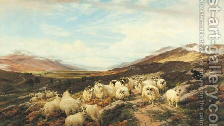Gathering The Flocks, Loch Maree by Henry William Banks Davis - Reproduction Oil Painting
