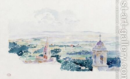 Perouse, La Terrasse by Henri Edmond Cross - Reproduction Oil Painting