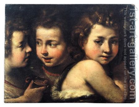 Study Of Three Heads Of Children by Giulio Cesare Procaccini - Reproduction Oil Painting