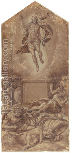 The Resurrection Of Christ by Central Italian School - Reproduction Oil Painting