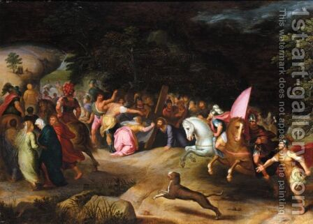 Saint Veronica Holding Out Her Veil To Christ On The Road To Calvary by (after) Frans I Francken - Reproduction Oil Painting