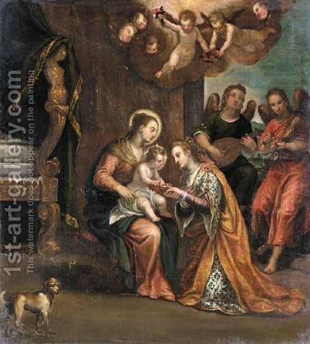 Mystic Marriage Of Saint Catherine by (after) Paolo Veronese (Caliari) - Reproduction Oil Painting