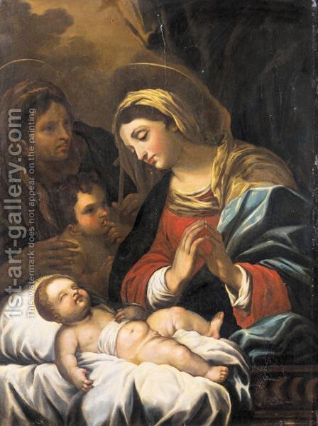 The Madonna And Child With The Infant Saint John The Baptist And Saint Elizabeth by (after) Luca Giordano - Reproduction Oil Painting