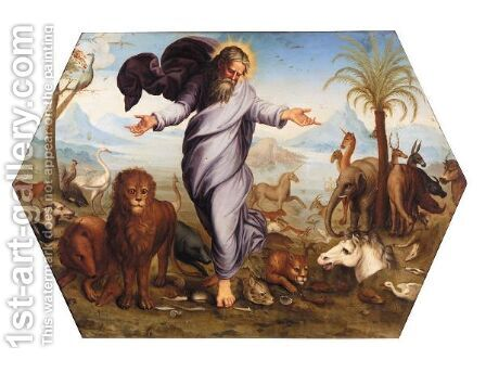 God Creating The Animals by Italian School - Reproduction Oil Painting