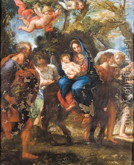 The Flight Into Egypt by (after) Bartolomeo Giuseppe Chiari - Reproduction Oil Painting