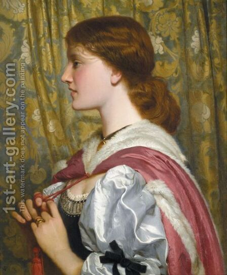 Silvia by Charles E. Perugini - Reproduction Oil Painting