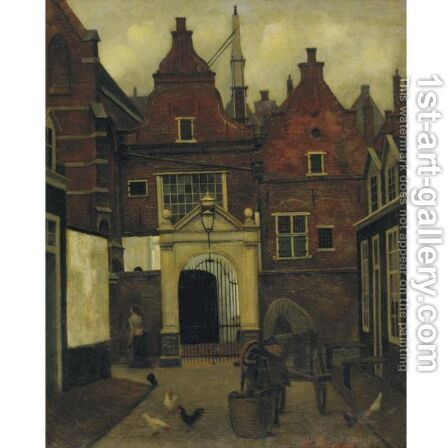 A Street In Holland by Eduard Karsen - Reproduction Oil Painting