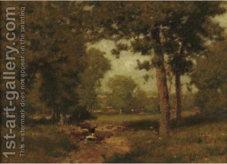Brook In The Woods by Alexander Helwig Wyant - Reproduction Oil Painting
