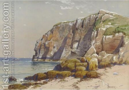 Cliffs On The Coast by Alfred Thompson Bricher - Reproduction Oil Painting