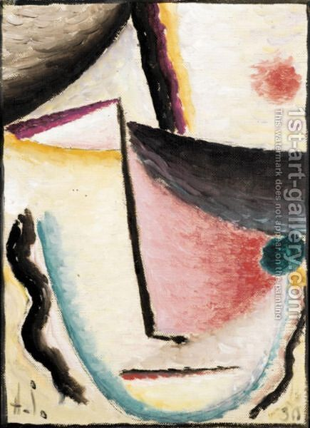 Schrage Augen (Slanted Eyes) by Alexei Jawlensky - Reproduction Oil Painting