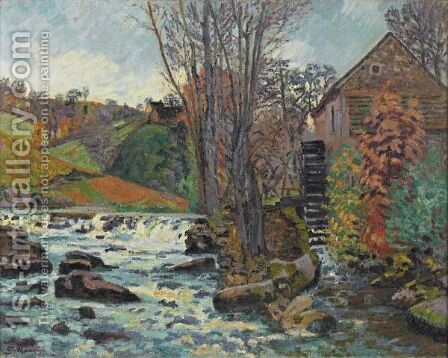 Le Moulin Bouchardon A Crozant by Armand Guillaumin - Reproduction Oil Painting