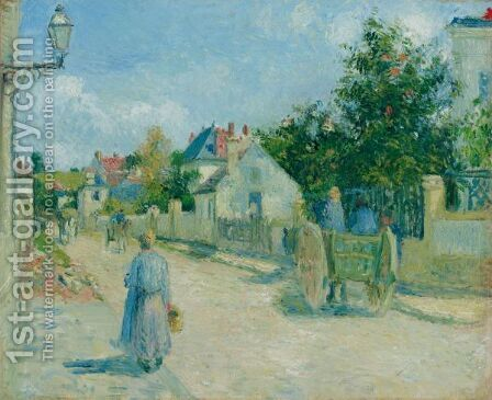 Rue De L'Hermitage, Pontoise by Camille Pissarro - Reproduction Oil Painting