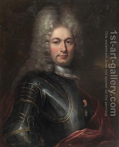 Portrait D'Homme En Armure by Hyacinthe Rigaud - Reproduction Oil Painting
