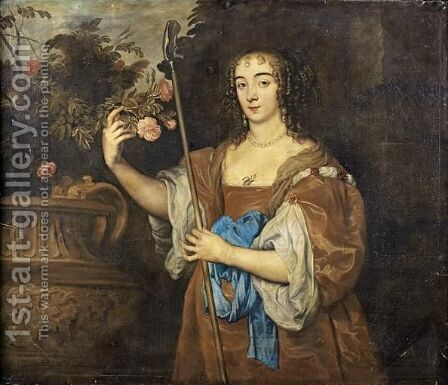 Portait De Lady Spencer, Comtesse Du Sunderland (1617 - 1684) by (after) Dyck, Sir Anthony van - Reproduction Oil Painting