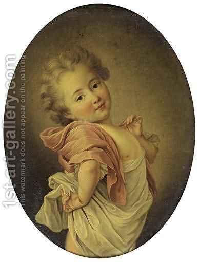 Portrait Of A Child by (after) Franois-Hubert Drouais - Reproduction Oil Painting