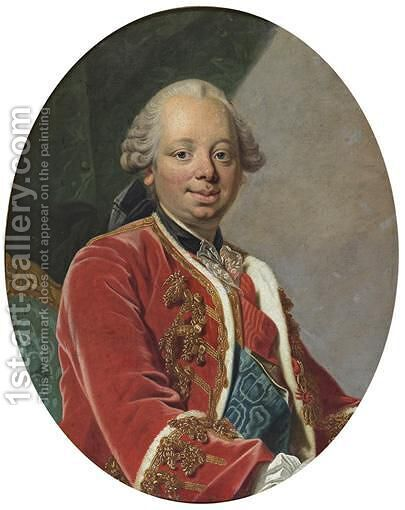 Portrait Of The Duke Of Choiseul by (after) Louis Michel Van Loo - Reproduction Oil Painting