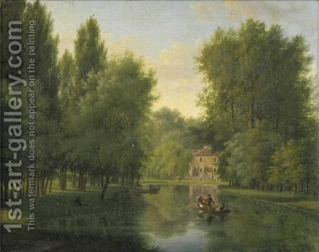 Views Of The Park Of  Mortefontaine (Near Chantilly) by Charles Jean Guerard - Reproduction Oil Painting