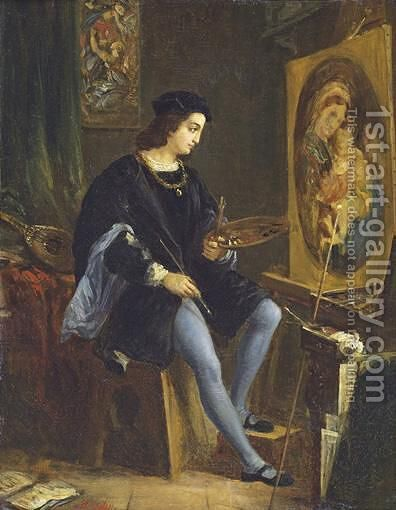 The Virgin With The Chair by Alexandre-Marie Colin - Reproduction Oil Painting