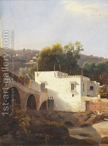Casale Di Posilippo by Andre Giroux - Reproduction Oil Painting