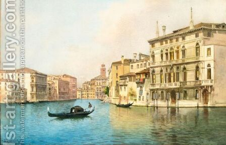 Venezia, Il Canal Grande by Alberto Prosdocimi - Reproduction Oil Painting