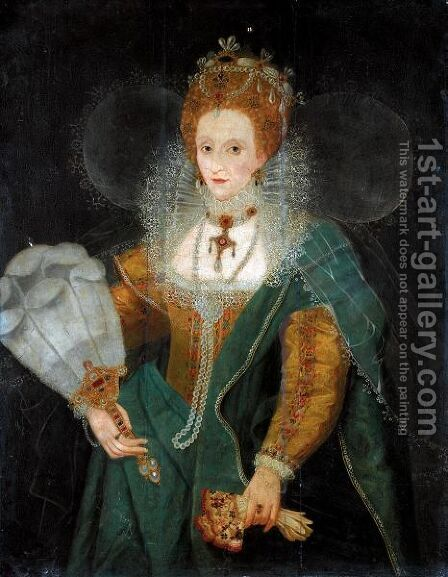 Portrait Of Queen Elizabeth I by (after) Marcus The Younger Gheeraerts - Reproduction Oil Painting
