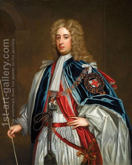 Portrait Of Lionel Sackville, 1st Duke Of Dorset (1688-1765) by (after) Kneller, Sir Godfrey - Reproduction Oil Painting