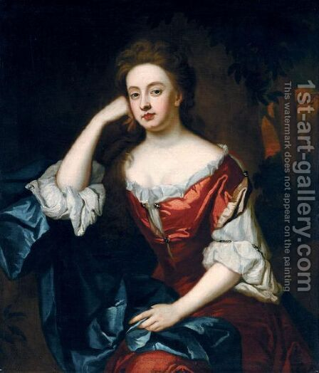 Portrait Of Frances Jennings, Duchess Of Tyrconnel by (after) Kneller, Sir Godfrey - Reproduction Oil Painting