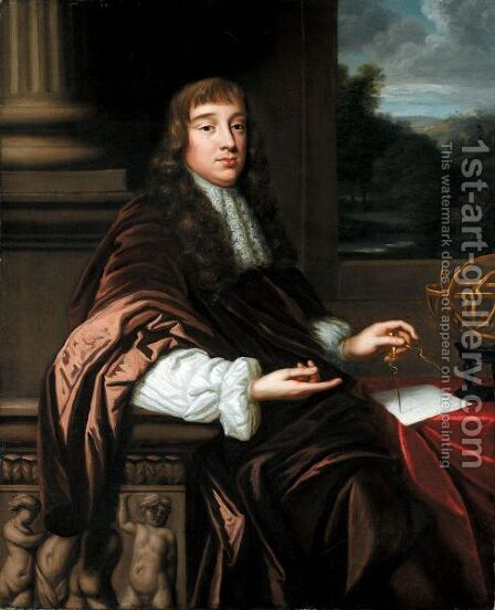 Portrait Of A Mathematician by Mary Beale - Reproduction Oil Painting