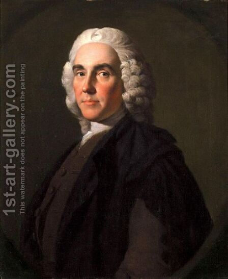 Portrait Of Dr Alexander Monro (1697-1767) by Allan Ramsay - Reproduction Oil Painting