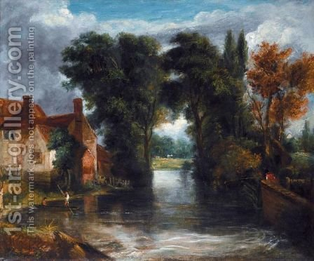 The Valley Farm by (after) Constable, John - Reproduction Oil Painting